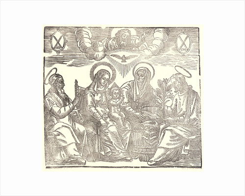Holy Family, 16th century (restrike printed 19th or 20th century) by Anonymous