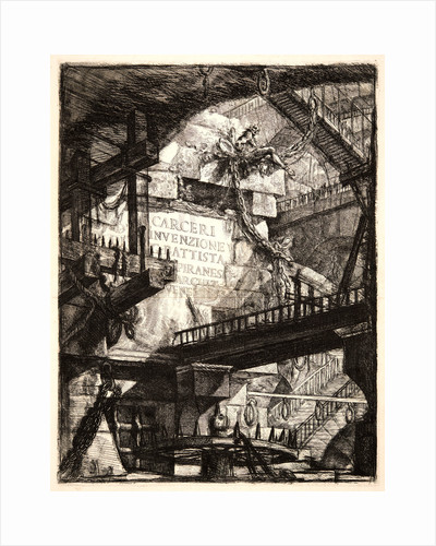 Title Page: Imaginary Prisons of G. Battista Piranesi by Giovanni Battista Piranesi