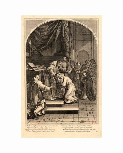 The Life of Saint Bruno, or The Founding of the Carthusian Order, Plate 14, 17th-18th century by Anonymous