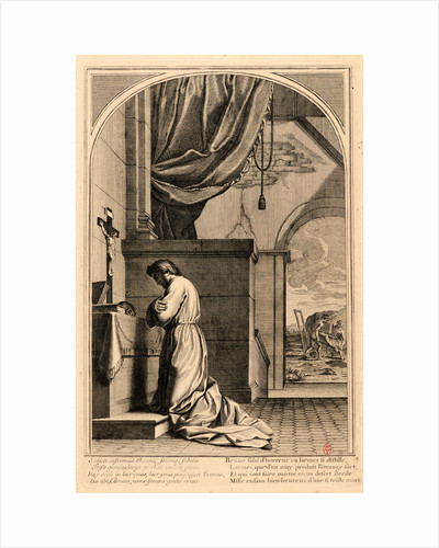 The Life of Saint Bruno, or The Founding of the Carthusian Order, Plate 4, 17th-18th century by Anonymous