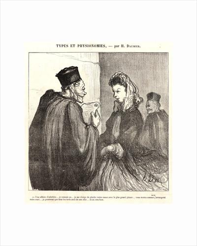 An Adulterous Affair by Honoré Daumier