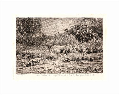 Pig in an Orchard (Le Cochon dans un Verger), ca. 1860 by Charles François Daubigny