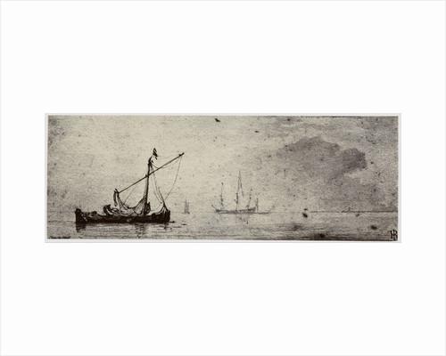 A Barge by Van der Velde