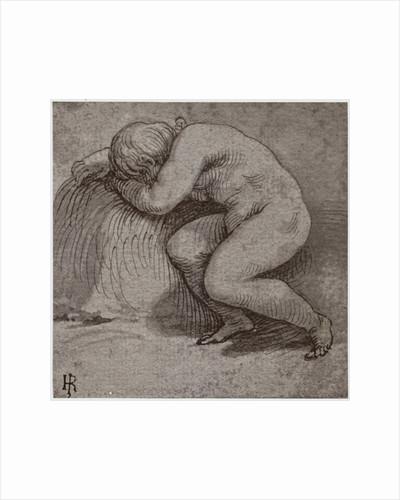 A Sleeping Child by Giulio Romano