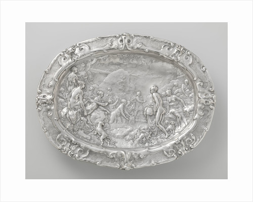 Basin with scenes from the story of Diana and Actaeon by Paulus Willemsz. van Vianen