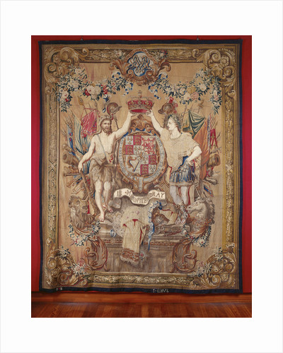 Weapon Carpet of King William III, governor of the Netherlands, and Queen Mary II Stuart, stadhouder by Anonymous