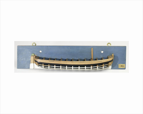 Half Model of a barge by Anonymous