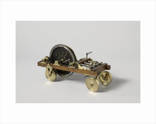 Model of a cart for rope-making by Anonymous