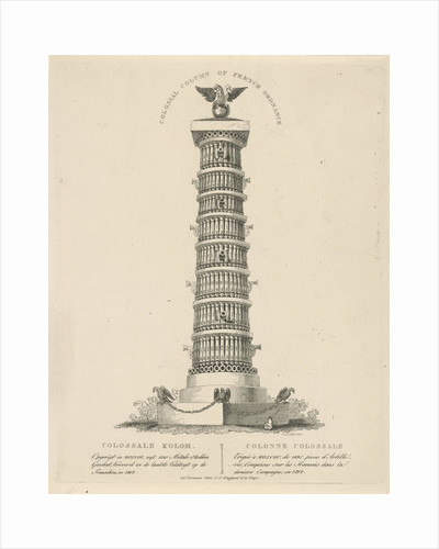 Column in Moscow Russia, Christian Anthony Lotter by François Joseph Weygand