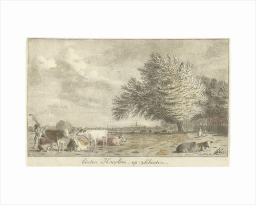 Cows in a pasture by Cornelis van Noorde