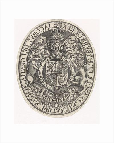 Coat of Arms of England by Simon van de Passe