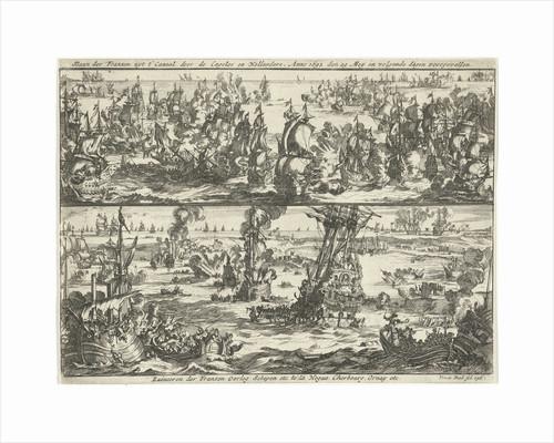 Battle of Cape La Hogue, 1692 by Jan Claesz ten Hoorn