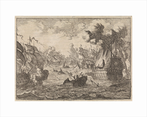 Battle of Cape La Hogue, 1692 by Pieter van der Aa I