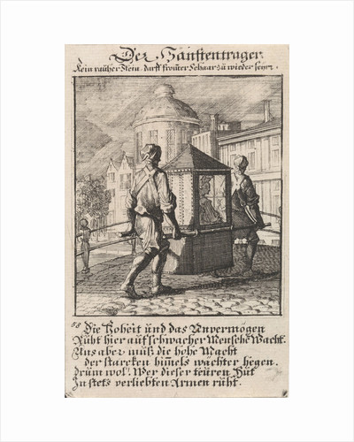 Carriers of a sedan, Caspar Luyken by Anonymous