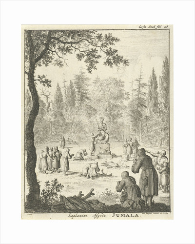 Laplanders worship the god Jumala by Jan Luyken