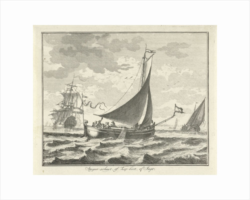 Barge on the water by Adolf van der Laan
