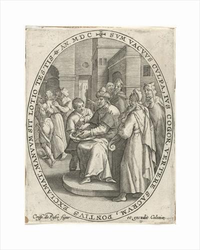 Pilate washes his hands in innocence by Crispijn van de Passe I