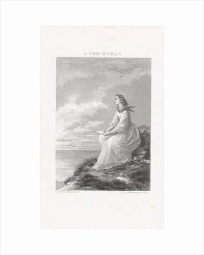 Writing on the beach by J.H. Laarman