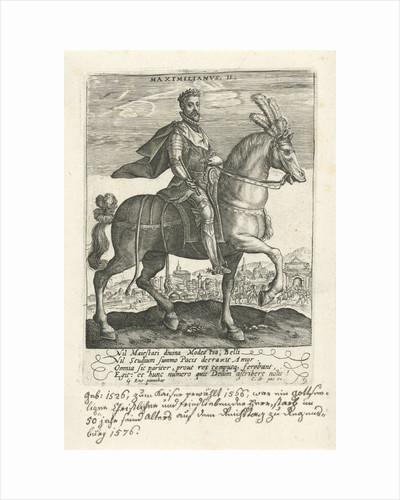 Maximilian II on horseback by Crispijn van de Passe I