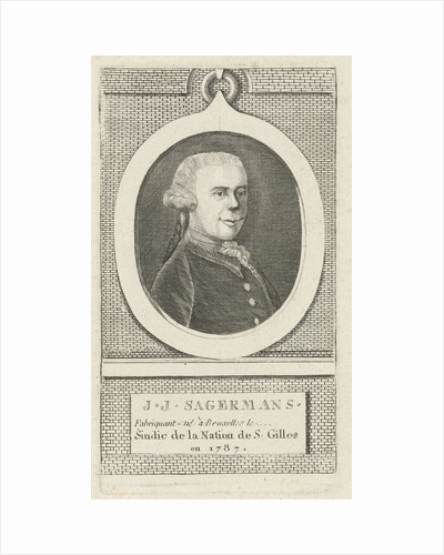 Portrait of J. J. Sagermans by J.F. De La Rue
