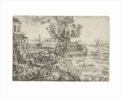 Attack on the fortress of Orange and the Church of God by Jacob de L'Ambre