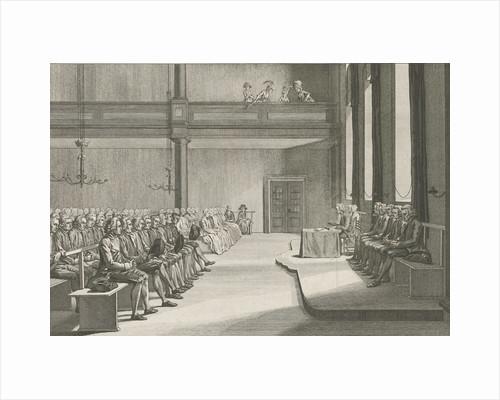 Church service of the Brethren in Zeist The Netherlands by Abraham Pietersz. Hulk