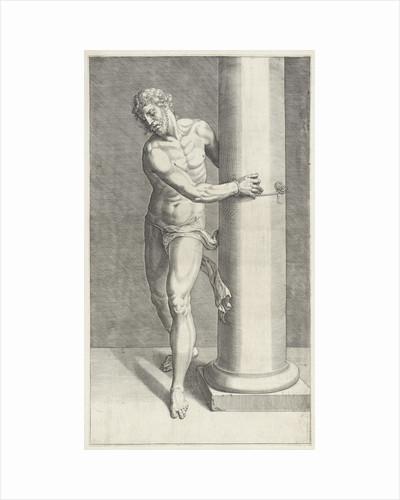Christ at the scourge column by Willem Danielsz. van Tetrode