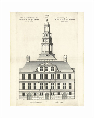 Rear of the Town Hall of Maastricht The Netherlands by Jan Matthysz.