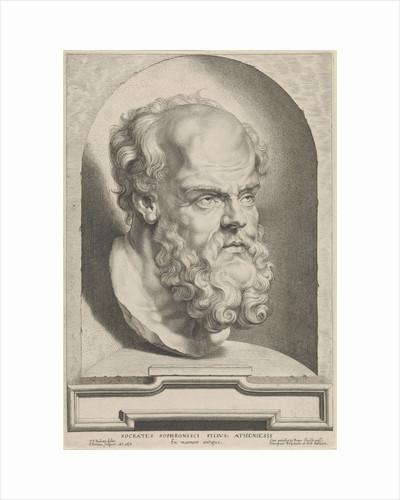 Antique bust of Socrates by Paulus Pontius