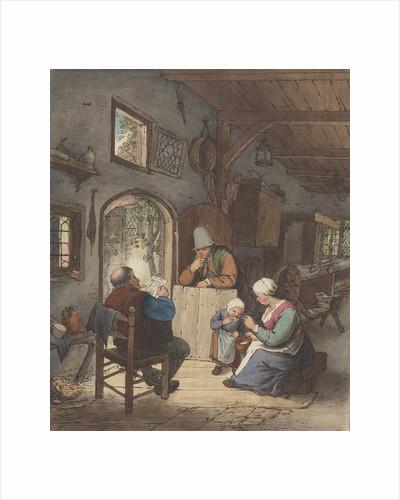 Newspaper Reader in interior by Adriaen van Ostade