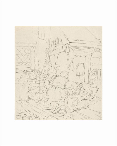 Peasant Interior with two women by Cornelis Ploos van Amstel