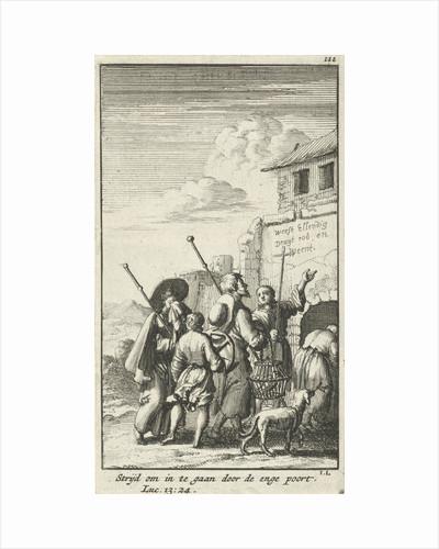 Five pilgrims for a gate by Jan Rieuwertsz.