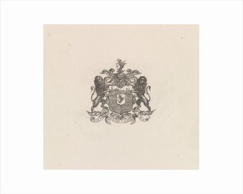 Coat of Arms of Anthonie Willem Hendrik Noltzenius de Man by Frederik Lodewijk Huygens