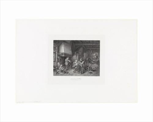 Peasants indoors by Adriaen van Ostade