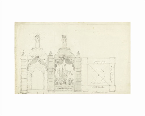 Design for a temple at the occasion of the Freedom under Napoleon by Jurriaan Andriessen