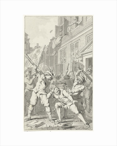 People's Anger in Alkmaar during the Cheese and Bread Riot by Jacobus Buys