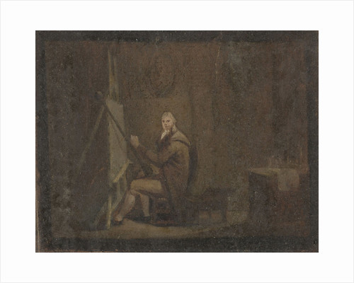 Painter in his studio by Anonymous