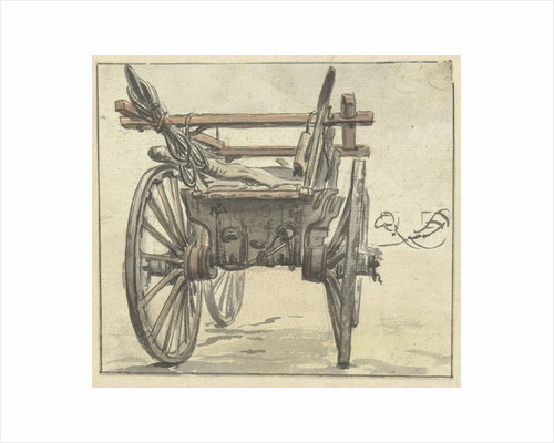 Back of a four-wheel cart by Simon Andreas Krausz
