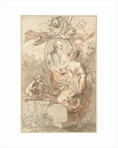 Design for the title page of Sannisarius' Arcadia by Jan Wandelaar