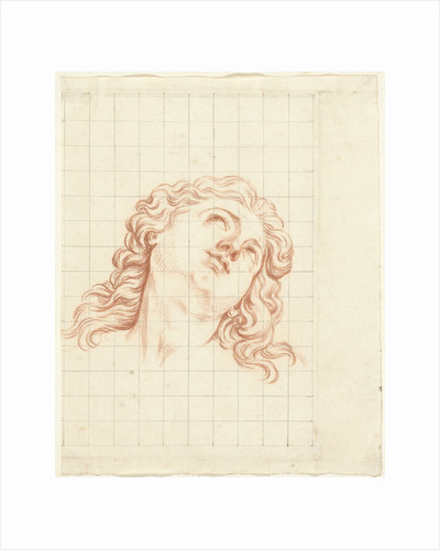 Head of a boy with long hair by Bernard Picart
