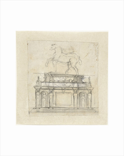 Design for an equestrian statue of Henry II of France by Michelangelo