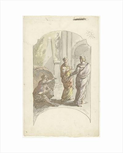 Diogenes asked Alexander not to stand in his light by Elias van Nijmegen