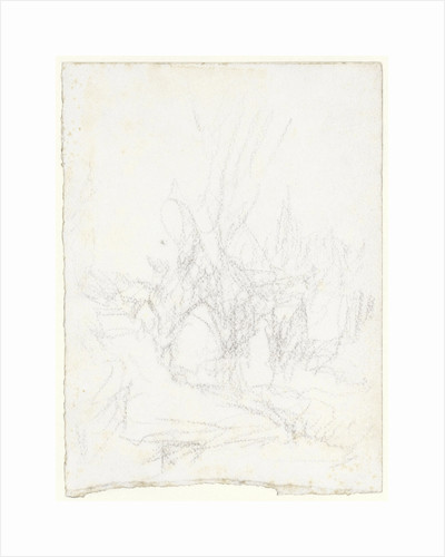 Sketch of a landscape by Matthijs Maris