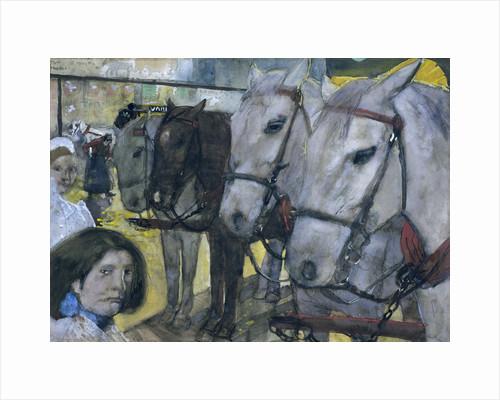 Tram Horses on Dam Square in Amsterdam by George Hendrik Breitner