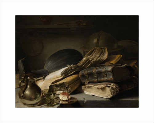 Still Life with Books by Jan Lievens