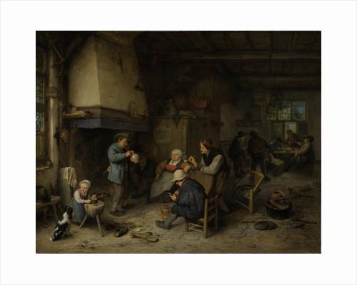 Peasants in an Interior by Adriaen van Ostade
