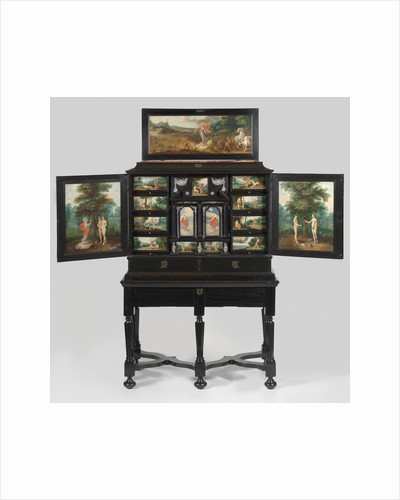 Art Cabinet with painted scenes from Genesis, Anonymous by Frans Francken II