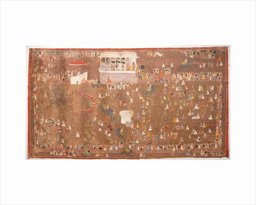 Maharana Sangram Singh of Udaipur Entertaining Members of the Dutch East India Company led by Johan Josua Ketelaar in 1711 by Anonymous