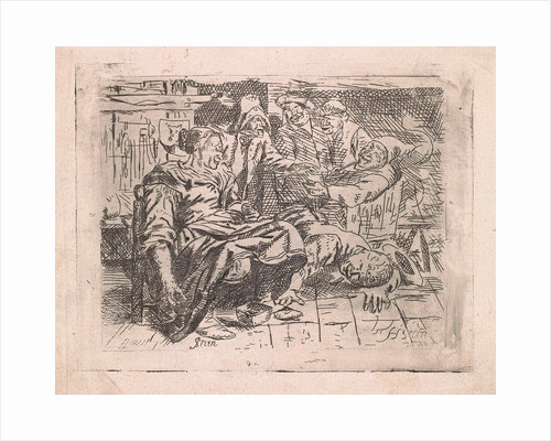 Tavern with smiling company by Anonymous