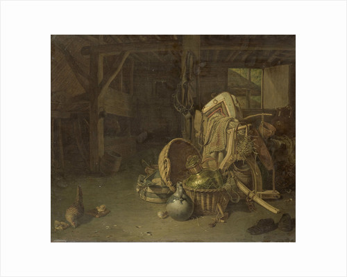 Still Life in a Stable by François Cornelis Knoll